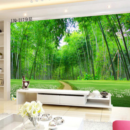 $enCountryForm.capitalKeyWord Australia - Classic large mural wallpaper green bamboo forests and trail 3D space more visual wallpaper cool and refreshing type living room bedroom hot
