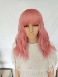 $enCountryForm.capitalKeyWord Australia - Explosion Wigs Women's Short Curly Hair Pink Rose Mesh High Temperature Silk Chemical Fiber Hood jooyoo