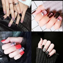 $enCountryForm.capitalKeyWord NZ - Nail Trends Flat Collection False Nails Japanese Finished Glue Patch Tools Manicure Decals Minx Nail Decorations