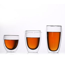 Double Layer Tea Glasses Australia - Heat-Resisting Glass Double Wall Layer Wine Water Cup Crystal Beer Drink Mugs Tea Coffee Cups