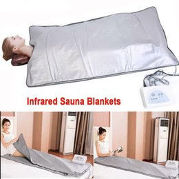 body slim blankets NZ - FIR Sauna Far Infrared Body Slimming Sauna Blanket Heating Therapy Slim Bag Sauna Thermal Blanket Weight Loss Body Detox Machine For Salon