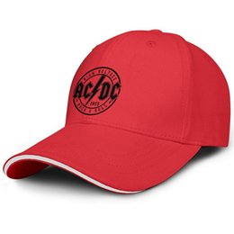 Flat Rolled UK - Men's Women's ACDC high voltage 1975 rock roll Snapback Flat Cap Casual All Cotton Mesh Caps Fit Youth Hat