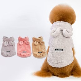 Chinese  Animal Pet Dog Fuzzy Coat Winter Warm Plush Fleece Clothes Defensive Cold Teddy Dog Classic Ear Outwear Dogs Costume Outfits Pet Supplies manufacturers