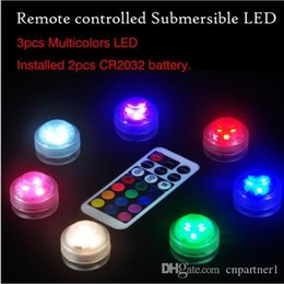 Waterproof Remote Control Light Switch Australia - RGB Mini led diamond lamp 3 led patch waterproof IP68 candle light remote control colorful diving light night light 7 color control