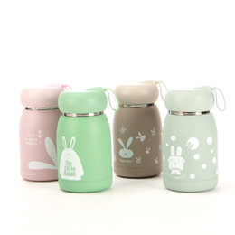 Magic children online shopping - Rabbit Thermos Cup Stainless Steel Vacuum Mug Lovely Female Student Magic Tumbler Carry Big Belly Creative Resistance To Fall lkC1