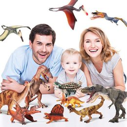 China 15 Style Simulation Dinosaur Toys For Children's Ornaments Solid Model Set Tyrannosaurus Rex World Static Animal Model Gifts cheap red dinosaur toy suppliers