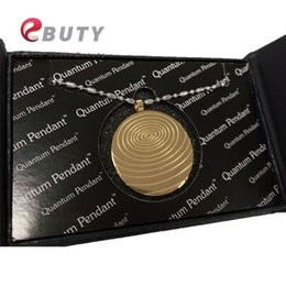 Pendant energy ion online shopping - Gold Quantum Scalar Energy Stainless Steel Pendant with Far Infrared Negative Ion Germanium Stones
