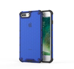honeycomb iphone UK - Shockproof Honeycomb PC+TPU Protective Case For iPhone 6 Plus & 6s Plus