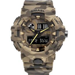 $enCountryForm.capitalKeyWord Australia - BRW New Camo Watch Strap SMAEL Men Digital Watches Big Dial Fashion Camouflage Military Watch 8001 Mens Army Watch Waterproof Clock
