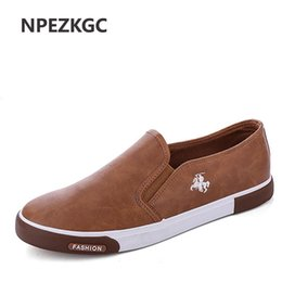 mens casual shoes low price UK - NPEZKGC New arrival Low price Mens Breathable High Quality Casual Shoes PU Leather Casual Shoes Slip On men Fashion Flats Loafer
