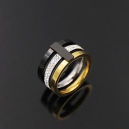 2019 nova alta qualidade diamante superhero mens anéis de ouro moda anel preto Designer de moda jóias para homem em Promoção