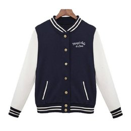 jacket college Australia - Women Baseball Jacket Casacos Femininos Preppy College Jackets Bomber Jacket 2019 New Spring Winter Coats Basic Outwear XXL Y190919