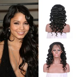 Free style human hair wig online shopping - Hot Style Density Ear To Ear Loose Wave Lace Front Wigs Free Part With Baby Hair Unprocessed Natural Human Hair G EASY