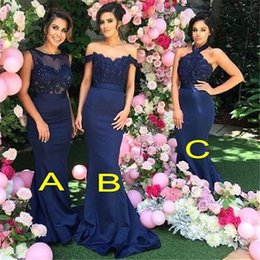 yellow coral beads Australia - Sexy Mermaid Bridesmaid Dresses Appliques and Beads Bridesmaid Gowns Custom Made Hot Sales With 3 Styles