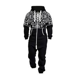 Wholesale men s onesie online – ideas One piece Men Garment Pajama Playsuit Zipper Hoodie Male Onesie Camouflage Print Tracksuit Jumpsuit Streetwear Overalls