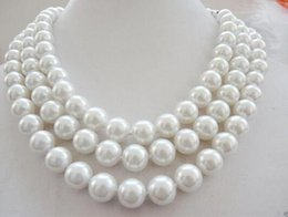 Long beaded neckLace designs online shopping - Women Gift word Love mm white South Sea shell peal beads necklace quot necklace for women long designs