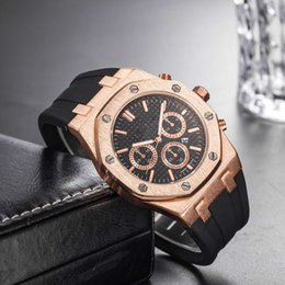 Watch silicone strap online shopping - Brand Mens Mechanical Watches Royal Oak High Quality Luxur Crystal Silicone strap Designer Watch man Ladies women Casual watch styl