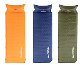 $enCountryForm.capitalKeyWord NZ - Wholesale- Naturehike Self Inflatable Sleeping Mat Mattress With Pillow Self-Inflating Sleeping Pad Foldable Bed Camping Tent Single Mat