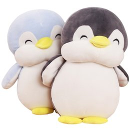 Wholesale 1pc cm Soft Fat Penguin Plush Toys Staffed Cartoon Animal Doll Fashion Toy for Kids Baby Lovely Girls Christmas Birthday Gift
