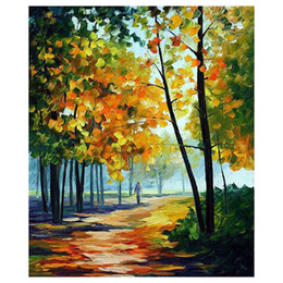 """$enCountryForm.capitalKeyWord Australia - 72""""x48"""" The maple tree hand-painted canvas forest of autumn sofa setting wall painting stair adornment porch painted"""