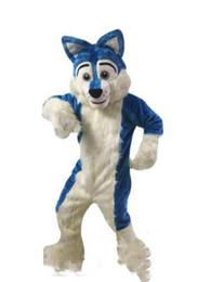 $enCountryForm.capitalKeyWord UK - 2019Professional custom Blue Husky Dog Mascot Costume Cartoon Wolf dog Character Clothes Christmas Halloween Party Fancy Dress