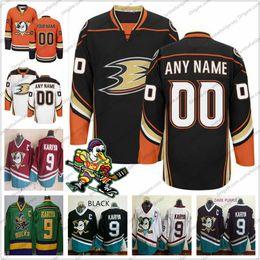Пользовательские Анахайм утки старый бренд хоккей трикотажные изделия сшитые логотип любое имя номер старинные оранжевый белый черный третий могучий фиолетовый белый S-3XL