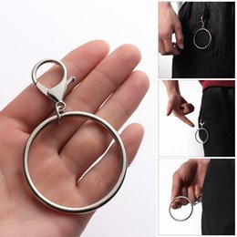 Trouser chain online shopping - 2019 Street Big Ring Key Chain Rock Punk Trousers Hipster Key Chains Pant Keychain HipHop Fashion Accessories