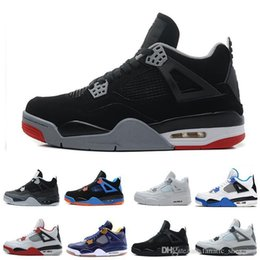 $enCountryForm.capitalKeyWord NZ - real quality bred Black Cat 4 sports basketball shoes Royalty White Cement Black Cat Pure Money men sports Sneakers us 8-13