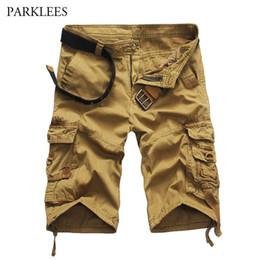 $enCountryForm.capitalKeyWord Australia - New Trend Cargo Shorts Men 2018 Summer Brand Mens Casual Knee Length Cotton Shorts Multi Pocket Loose Bermuda Masculina Khaki 38 SH19062701