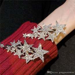 Asian Hair Clips High Quality Australia - High Quality Fashion Women's Girl Five-pointed Star Hairpin Beauty Hair Clip Head Jewelry Hair Accessories Wholesale Gift