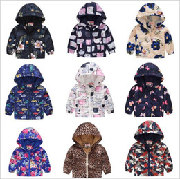Discount spring cartoon jackets - Kids Clothes Boys Hooded Jackets Baby Fashion Cardigan Hoodies Girls Dust Coats Sweatshirts Long Sleeve Outerwear Cartoo