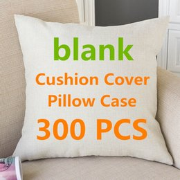 diy heat transfer printing NZ - 300Pcs Wholesale Blank Cushion Cover Pillow Case For DIY Heat Transfer Print almofada Cojines Housse De Coussin Funda Bedding Hotel Supplies
