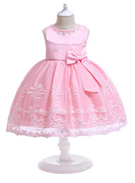 $enCountryForm.capitalKeyWord Canada - Baby White Pink Red Jewel Knee Girl's Pageant Dresses Flower Girl Dresses Princess Party Dresses Child Skirt Custom Made 2-14 H312186