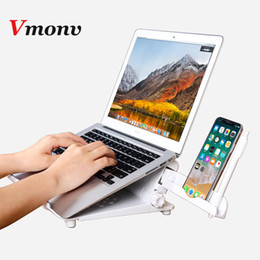 abs car phone holder Australia - Vmonv ABS Multifunction Adjustable Laptop Stand Holder for Macbook Lenovo ASUS HP 11-17 inch Notebook Tablet Phone Cooling Stand car