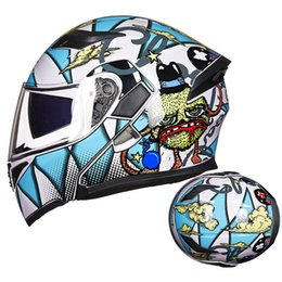 gxt motorcycle helmets 2020 - GXT-06 Motorcycle Helmet Double Visors Full face moto Helmets Racing Motorbike Filp Up Cool Men riding Casque De Moto