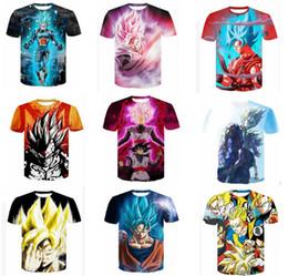 3d Character Printed Men S T Shirt NZ - S-4XL big boys dragon ball T-shirt 3D full printing man tops tees 32 different style men cartoon tshirt