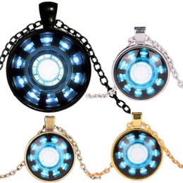 Necklaces Pendants Australia - Phone Chain Charm Key Holder Gemstone Necklace Necklaces Pendants Avengers Endgame Iron Man Captain America Heart Arc Necklace A41006
