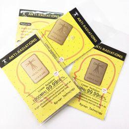 Health Anti Radiation Sticker Shield with Energy Saver Chip 24K Golden Shield Quantum Shield Energy Saving Sticker on Sale