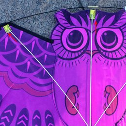 sports activities for kids Canada - 3D Owl Kite Kids Toys Funny Outdoor Sports Classic Palying Activity Game With Tail Toys For Children Early Learning Educational