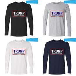 4907d9620 Trend Trump Long Sleeve T Shirt Make America Great Again Clothes White  Black Soft Man And Women Clothing High Grade 25 99hj Ww