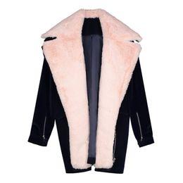 228a5d45b0 Winter Jackets Coat Women Warm Soft Thicken Fleece Fake Fur Fashion Outerwear  Hot Sale Streetwear Girl Loose Casual Overcoats