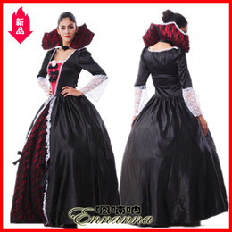 people clothing NZ - Ghost Festival Clothing Female Vampire Zombie Clothes Halloween Witch Clothes Masquerade Party Queen Clothes Uniform