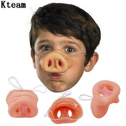 $enCountryForm.capitalKeyWord Australia - 10pcs Halloween Pig Nose Silicone Latex Nose Dress Up Costume Props Funny Party Decoration Halloween Scary Mask Supplies
