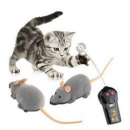 Electronic Pet Animal Toys Australia - Cat Toy Wireless Remote Control Pet Toys Interactive Pluch Mouse RC Electronic Rat Mice Toy For Kitten Cat