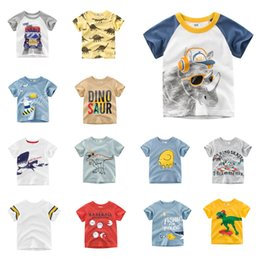 Kids Christmas Tees Australia - New Arrivals Wholesale Kids Designer Clothes Tees Summer Infant Cotton Children Cartoon Girls Short Sleeve Contrasted Striped T-shirts Tops