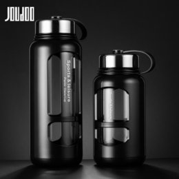 Wholesale Joudoo ml ml Portable Glass Water Bottles Outdoor Space Bottle Sports Water Bottle Leak proof Bike Climbing Gift Y19070303