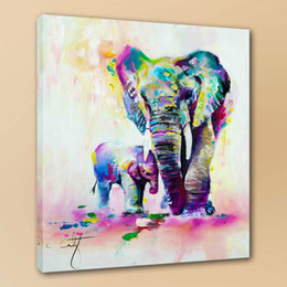 $enCountryForm.capitalKeyWord Australia - Katy Jade Dobson Mother Vs Baby Home Deco Art Hand Painted Art Oil Painting On Canvas Home Decor Wall Art Picture 190822