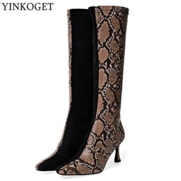 $enCountryForm.capitalKeyWord Australia - YINKOGET women boots fashion pointed toe Leisure comfortable High quality riding boots Autumn Winter girl women knee high
