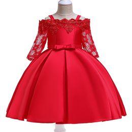 Baby Wedding Dresses Year UK - Girl wedding flower princess birthday dress child party dress baby girl tutu dress child clothes 3-10 year children