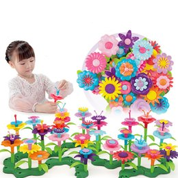 garden blocks Australia - 46pcs set Dream Garden Series Girls Flower Interconnecting Blocks Toys Educational Assembly Blocks Creative DIY Bricks Toys Gift